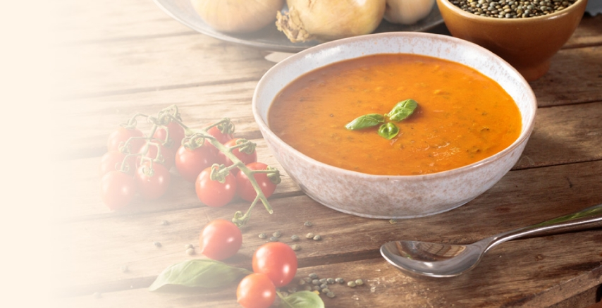 Image of a bowl of delicious Italian tomato soup